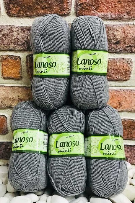 LANOSO - LANOSO MİNTİ (5 li paket) 952 Orta Gri