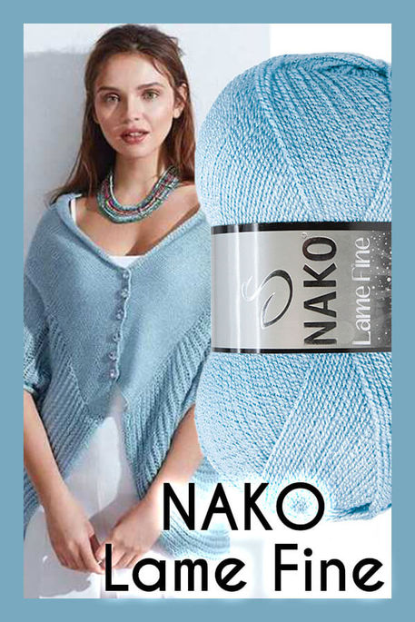 NAKO - NAKO LAME FINE 11476SE Buz Mavisi + Sedef