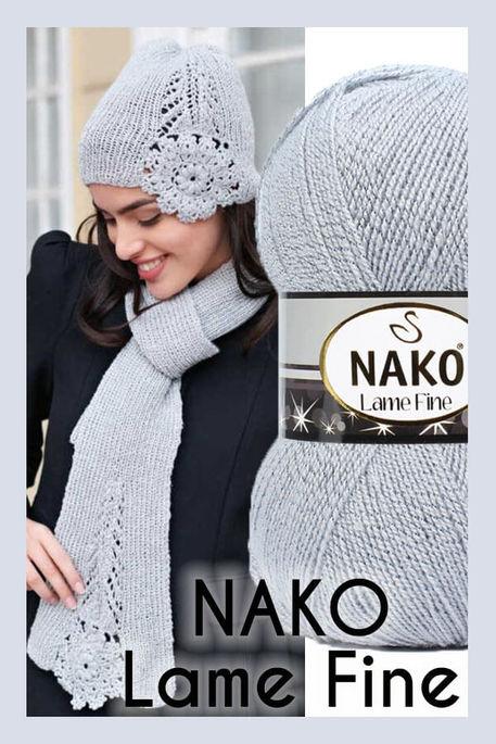 NAKO - NAKO LAME FINE 6671UM Gri + Uçuk Mavi