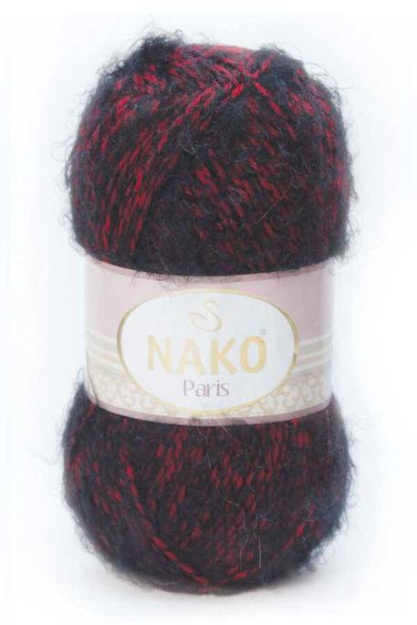 NAKO - NAKO PARİS 21306 Kırmızı - Siyah Muline