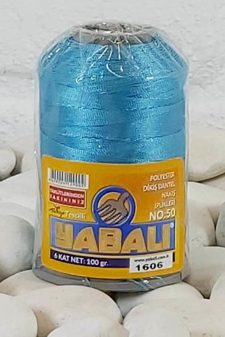 YABALI - YABALI 100 GR RENKLİ POLYESTER 1606 TURKUAZ
