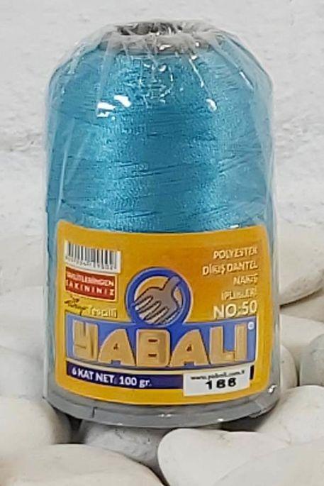 YABALI - YABALI 100 GR RENKLİ POLYESTER 188 TURKUAZ