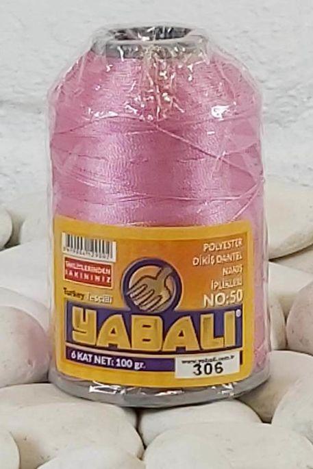 YABALI - YABALI 100 GR RENKLİ POLYESTER 306 A.PEMBE