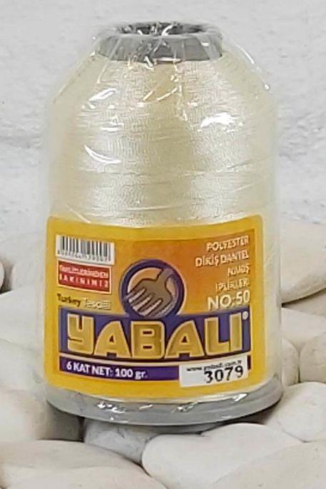 YABALI - YABALI 100 GR RENKLİ POLYESTER 3079 KREM