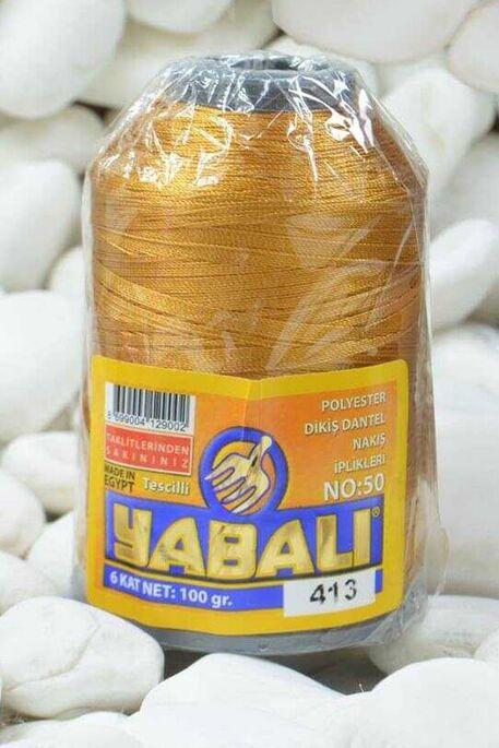 YABALI - YABALI 100 GR RENKLİ POLYESTER 413 HARDAL