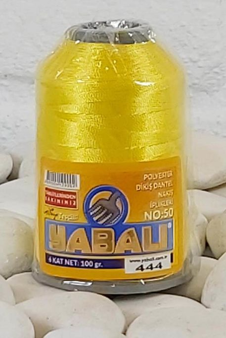 YABALI - YABALI 100 GR RENKLİ POLYESTER 444 SARI