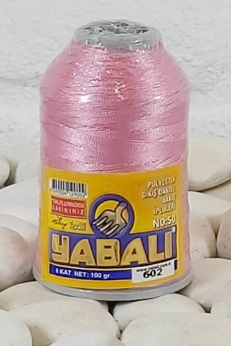 YABALI - YABALI 100 GR RENKLİ POLYESTER 602 PEMBE