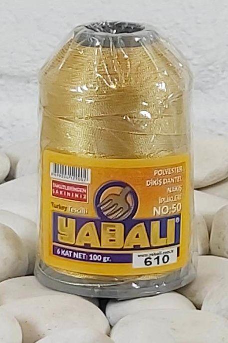 YABALI - YABALI 100 GR RENKLİ POLYESTER 610 HARDAL SARISI