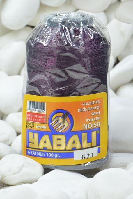 YABALI - YABALI 100 GR RENKLİ POLYESTER 623 PATLICAN MOR