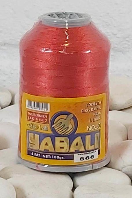 YABALI - YABALI 100 GR RENKLİ POLYESTER 666 KIRMIZI