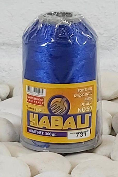 YABALI - YABALI 100 GR RENKLİ POLYESTER 731 SAKS MAVİ