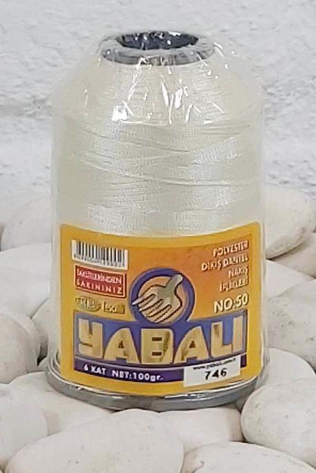 YABALI - YABALI 100 GR RENKLİ POLYESTER 746 KREM