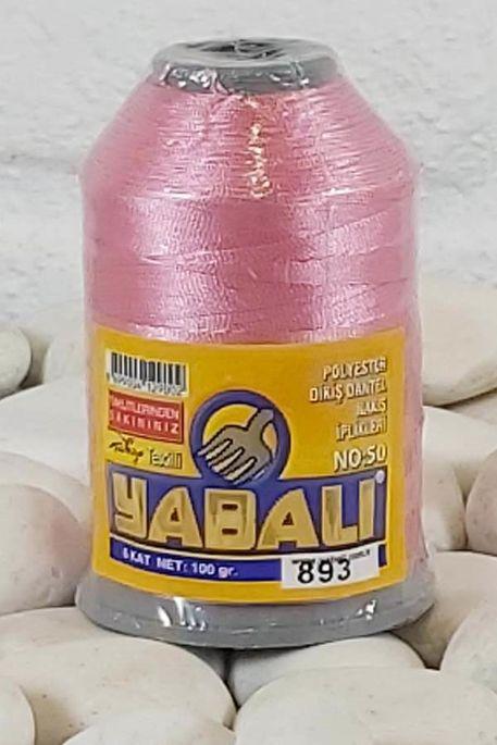 YABALI - YABALI 100 GR RENKLİ POLYESTER 893 A.PEMBE