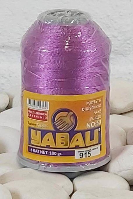 YABALI - YABALI 100 GR RENKLİ POLYESTER 915 LEYLAK