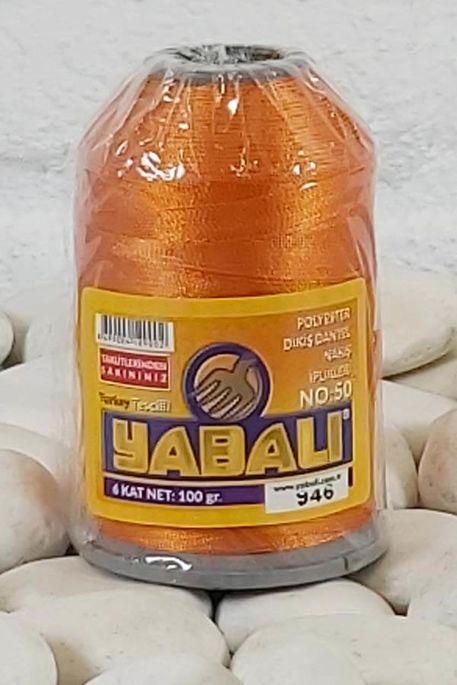 YABALI - YABALI 100 GR RENKLİ POLYESTER 946 TURUNCU