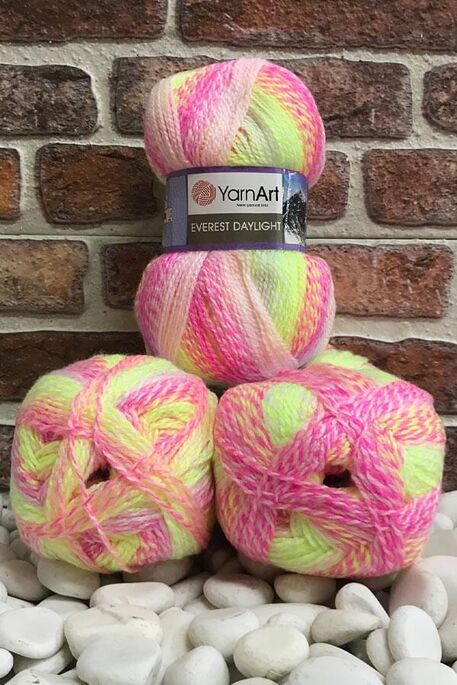 YARNART - YARNART EVEREST DAYLIGHT 6036 3 LU PKT 600 GR