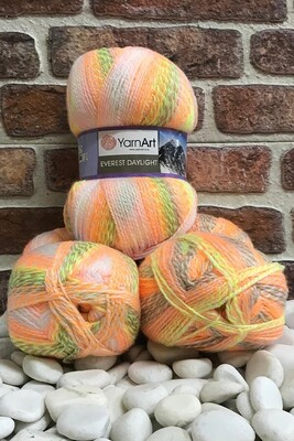 YARNART - YARNART EVEREST DAYLIGHT 6039 3 LU PKT 600 GR