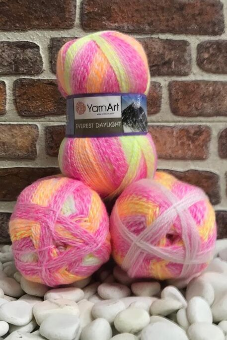 YARNART - YARNART EVEREST DAYLIGHT 6041 3 LU PKT 600 GR
