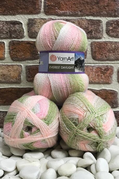YARNART - YARNART EVEREST DAYLIGHT 6044 3 LU PKT 600 GR
