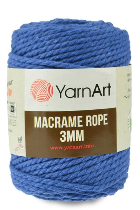 YARNART - YARNART MACRAME ROPE 3MM 772 Saks Mavi